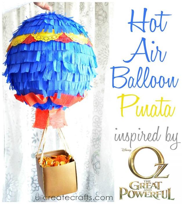 How to Make a Hot Air Balloon Pinata at u-createcrafts.com