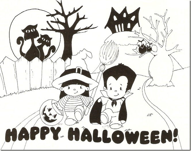 Colouring Sheet Halloween : Teaching english to the little ones : halloween colouring pages