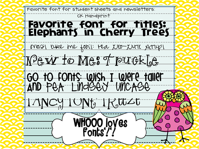 font linky party