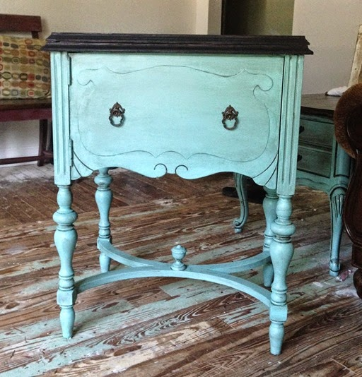 vintage table makeover