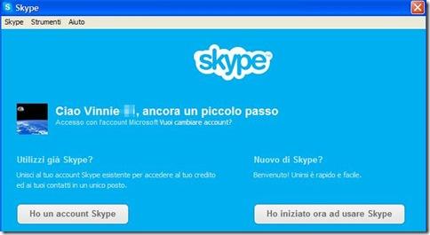 Skype Importare account da Windows Messenger
