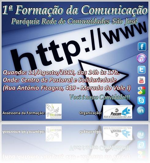 Convite Formação da Comunicação
