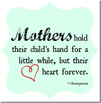 Mothers Day Hand Quote Printable