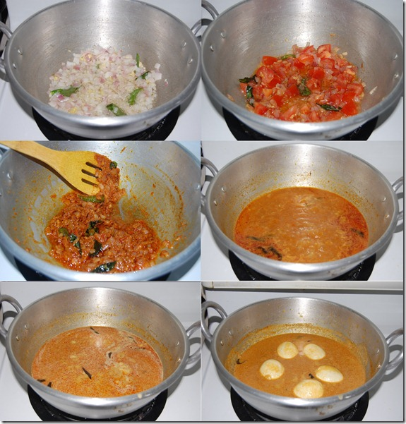Chettinad egg curry process