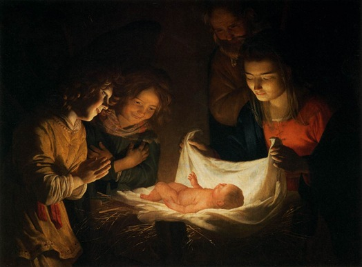 Adoración del Niño Jesús Gerrit Van Honthorst