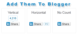 How to Add LinkedIn Share Count Buttons to Blogger