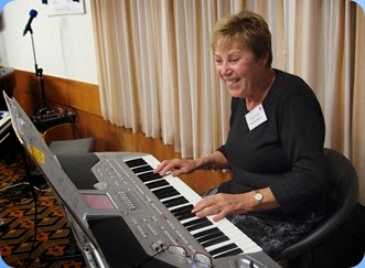 Yvonne Moller playing her Korg Pa1X. Photo courtesy of Dennis Lyons