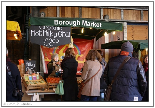 Borough Market - hot milky chai