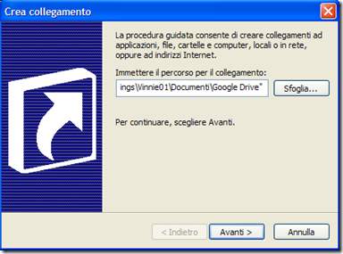 Creare collegamento a un programma su Windows
