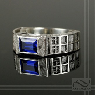 TARDIS Ring from Earth Art Jewelry and Gem