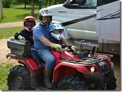 don and kids on quad