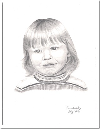 isha pencil portrait drawing