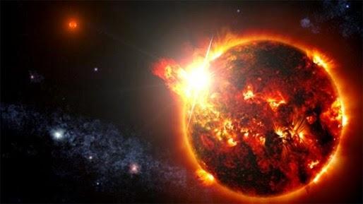 Estrela explode e produz flare 10