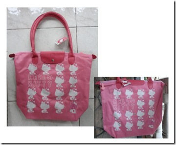 Bebex Koening OnlineShop Tas Longchamp Pink Hello Kitty