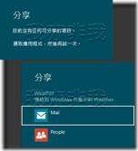 在不同應用程式中,會有不同的「分享」設定選項