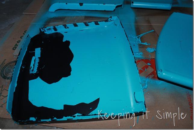 ikea chevron turquoise barstool (5)