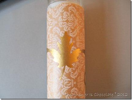 Leaf Vinyl Candle