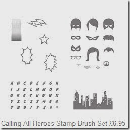 MDS DWNLDA SUPERHERO STAMP BRUSH SET