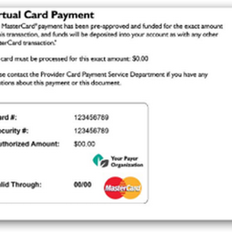 Health Plans and Claim Clearinghouses With Virtual Credit Cards-Racking Up Additional Fees From Doctors