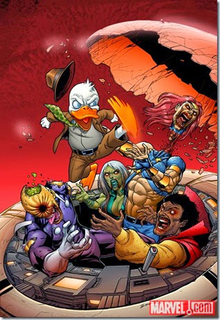 Howard the Duck kicking some marvel zombie azz