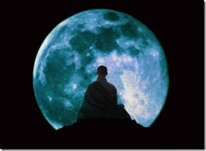 Monje zen y la luna