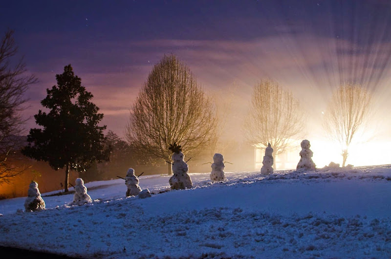 seven snowmen