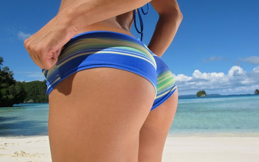 Women Beach Ass Summer Nikky Thorne Wallpaper
