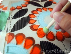 Layered Stenciling Technique {Sawdust and Embryos}