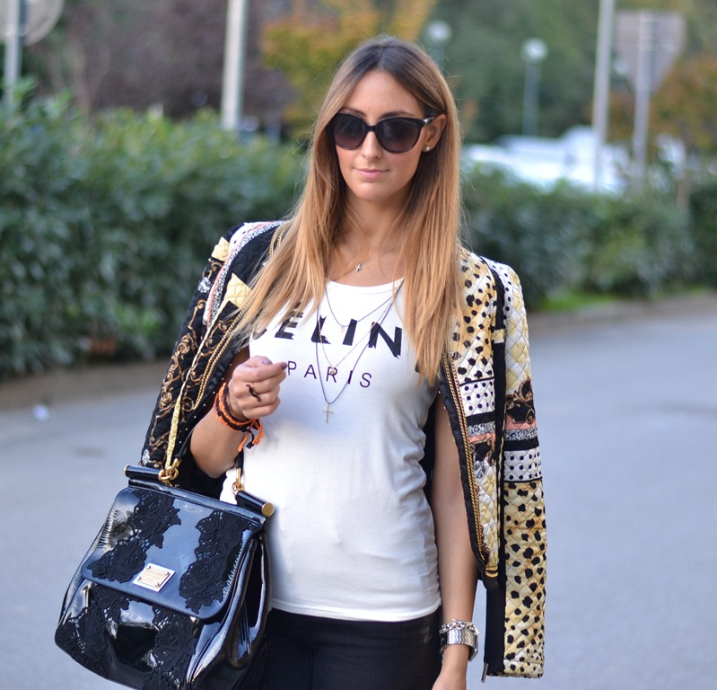 Rinascimento, Cline t-shirt, Cline tee, Cline, Miss Sicily Bag, Miss Sicily, Valentino Sunglasses, Studded Sneakers, C&amp;A Studded Sneakers, H&amp;M, H&amp;M trousers, Cruciani, Cruciani Bracelets, Braccialetti Cruciani, Braccialetti Cruciani di Halloween