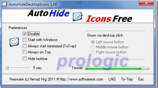 Auto Hide Desktop Icons - prologic