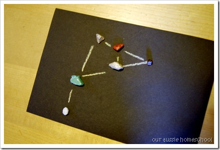 Rock Candy Constellations ~ Our Aussie Homeschool