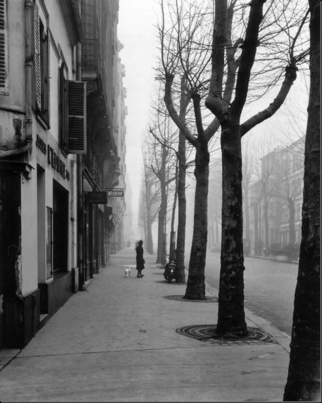 Avenue de Chatillon (Avenue jean Moulin) Paris 1947. ©Louis Stettner - courtesy Galerie David Guiraud