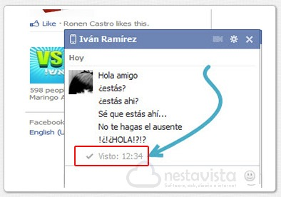 Eliminar el visto de Facebook