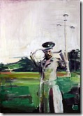 3. Nicolas II playing tennis No1,2010. Oil on Canvas. 48 x 36 in