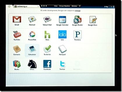 Google Chrome OS Welcome Screen