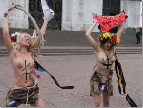 фото голые феминистки