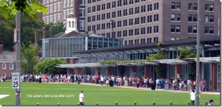 The Liberty Bell Line after lunch