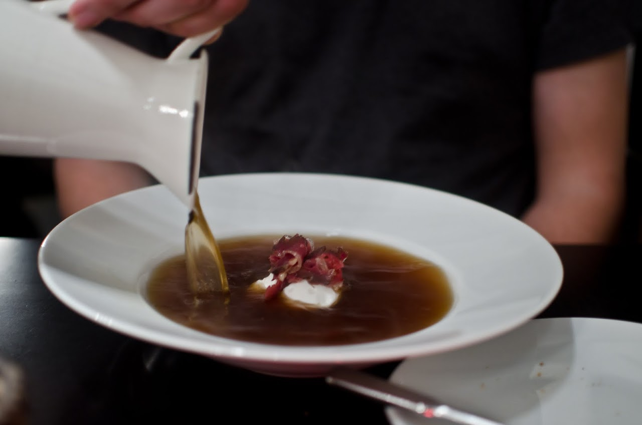 Duck consomme at Borkonyha Wine Kitchen