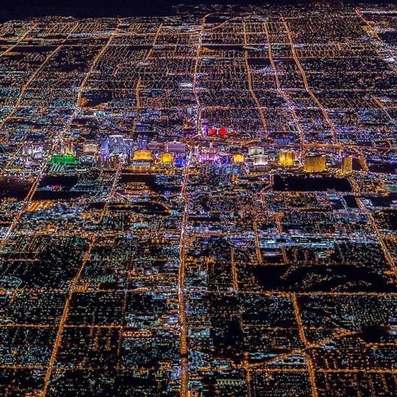 Las Vegas At Night From 8,799 Feet