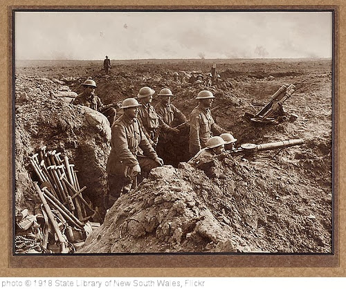 'In the trenches' photo (c) 1918, State Library of New South Wales - license: http://www.flickr.com/commons/usage/