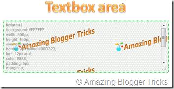 textbox area