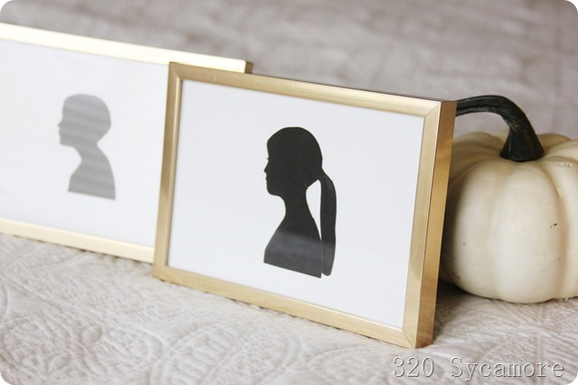 easy diy silhouettes