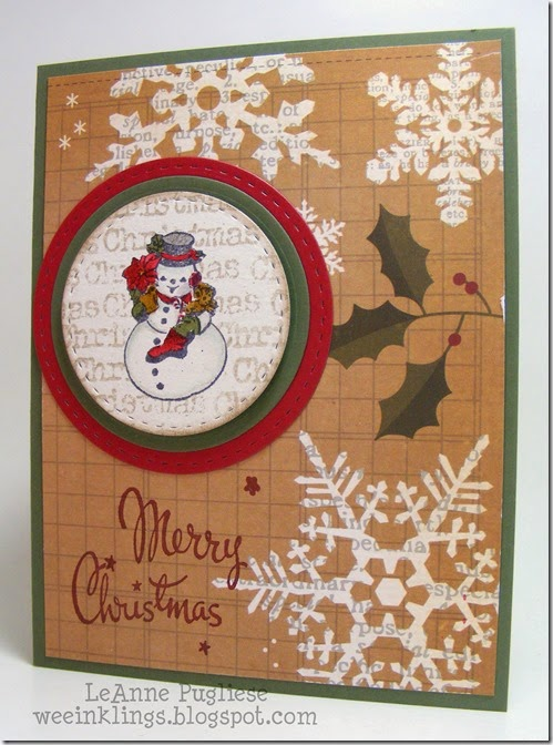 LeAnne Pugliese WeeInklings Merry Monday 103 Snowman Stampin