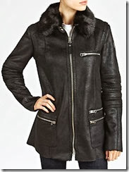 Armani Jeans Long Faux Shearling Jacket
