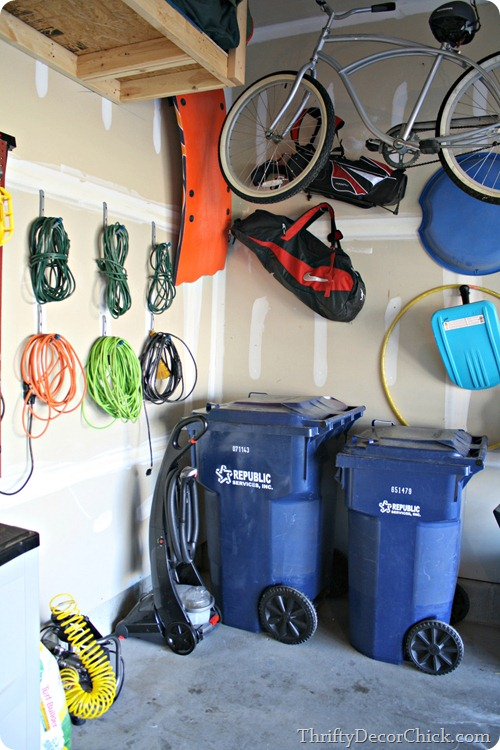 Using wall space in garage