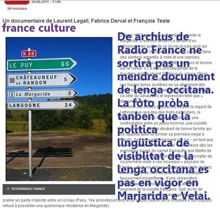 panèu sense occitan en Majarida