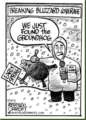 frozen groudhog