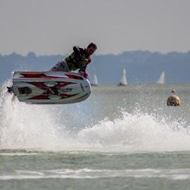 Airborne Fun by Stuart Byles - Sports & Fitness Watersports ( water, splash, waves, jetski, solent, sports, sea, air, fun,  )