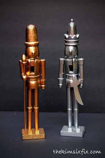 Faux metal nutcrackers