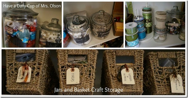 Jars and Basket Craft Storage